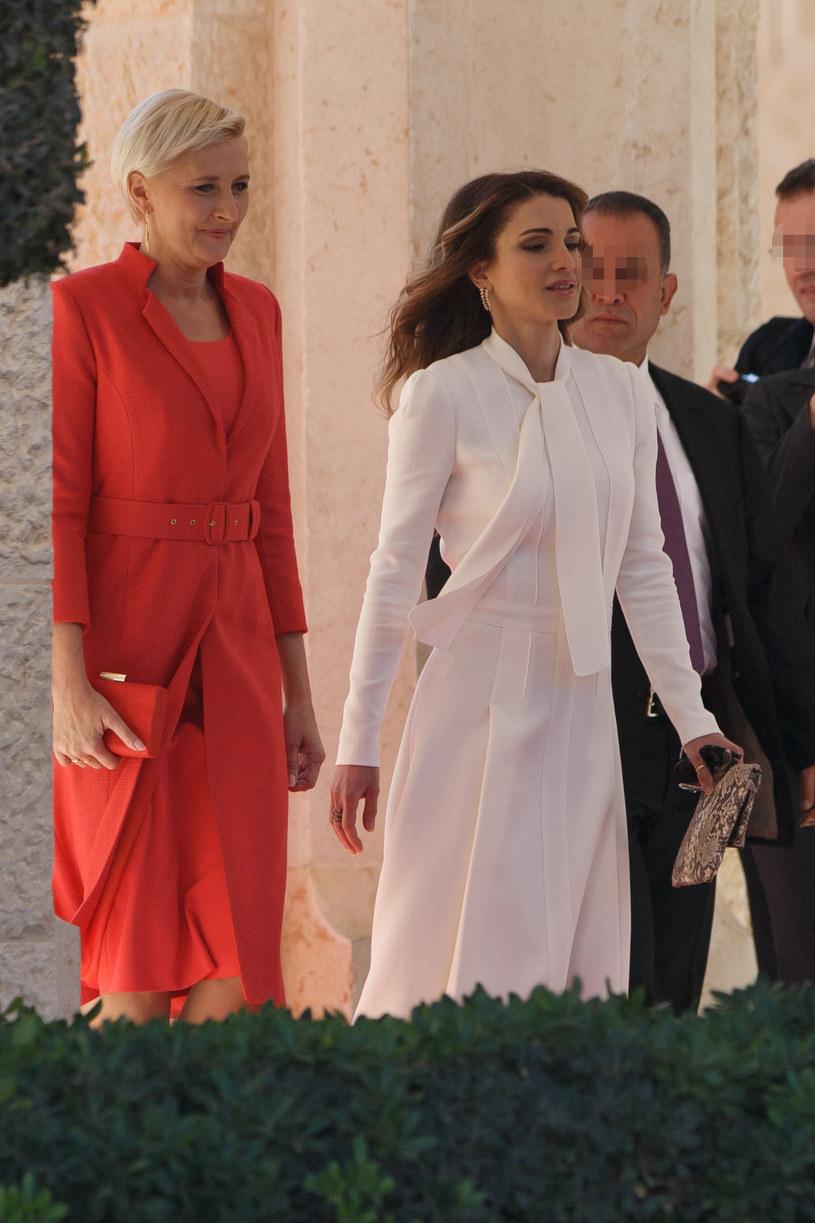 Agata Duda i królowa Rania /Krystian Maj /Agencja FORUM