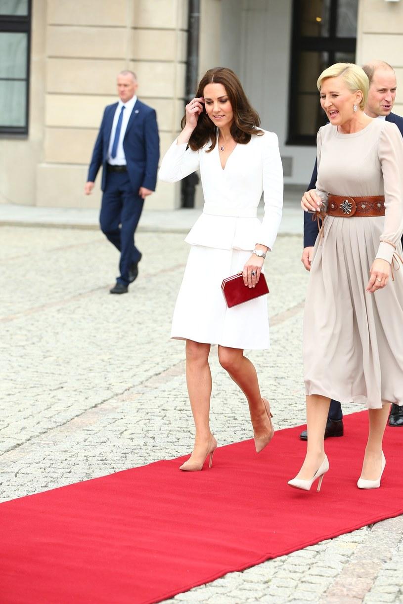Agata Duda i księżna Kate /East News