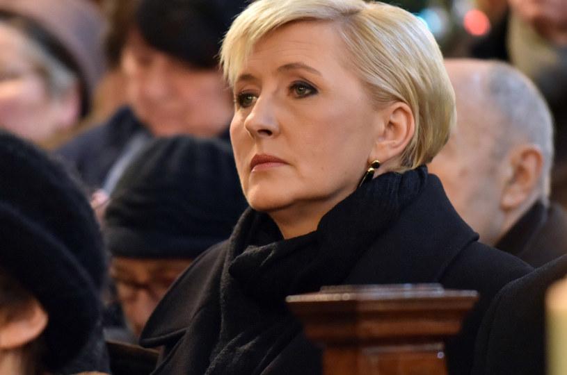 Agata Duda na pogrzebie księdza Mieczysława Malińskiego /Artur Barbarowski /East News