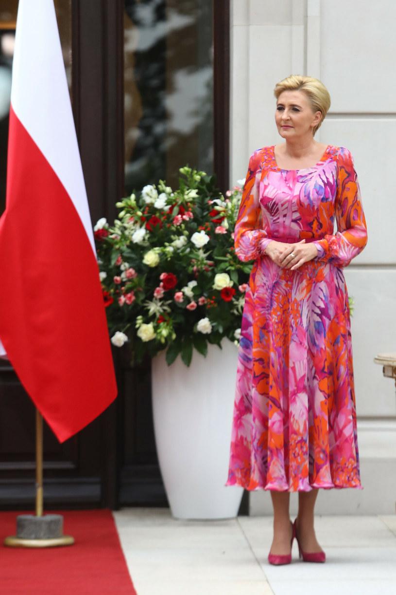 Agata Duda podczas warszawskiej Gali AgroLigi /Tomasz Jastrzębowski /East News