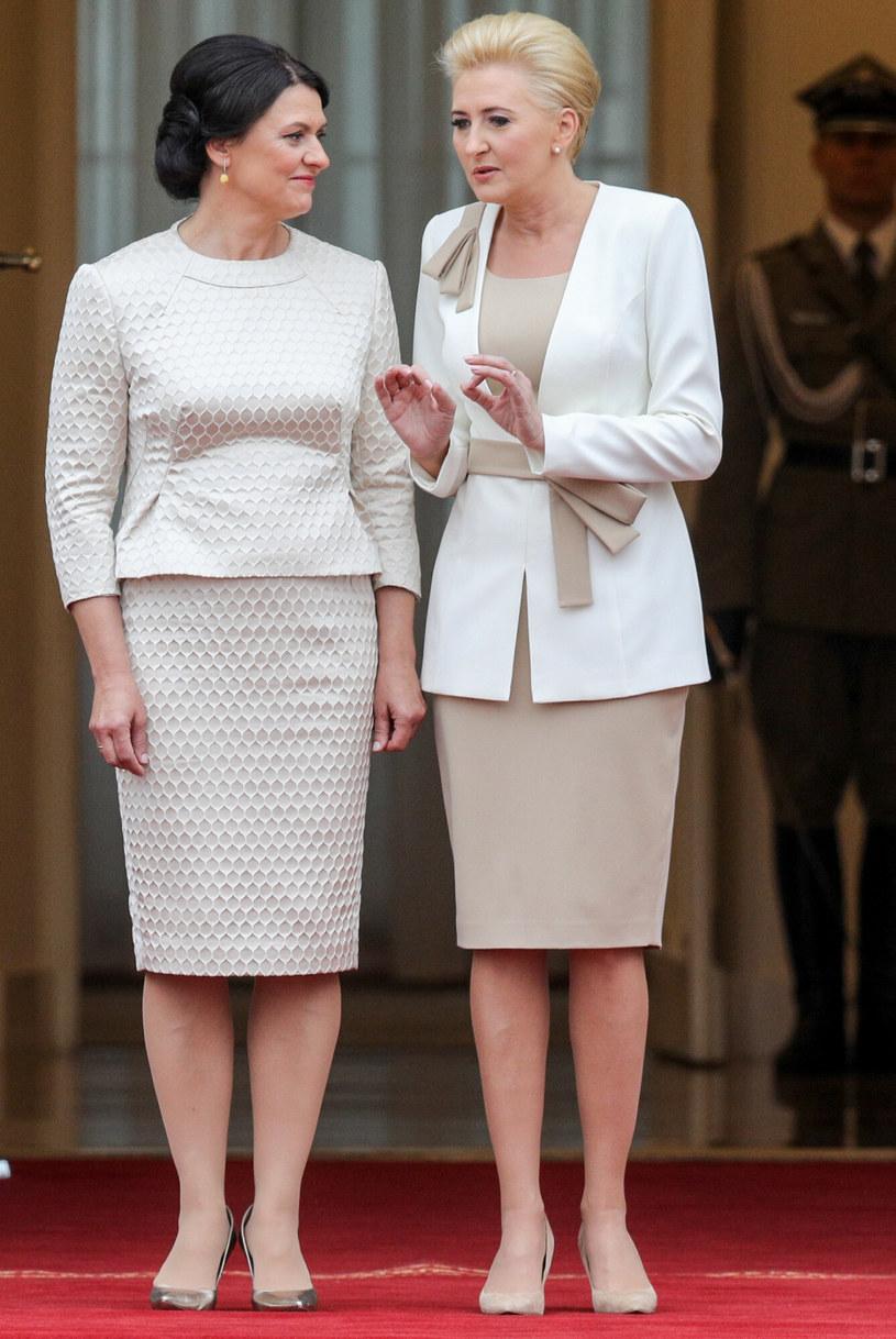 Agata Duda podczas wizyty Prezydenta Republiki Litewskiej i jego małżonki w Polsce /Tomasz Jastrzębowski /East News