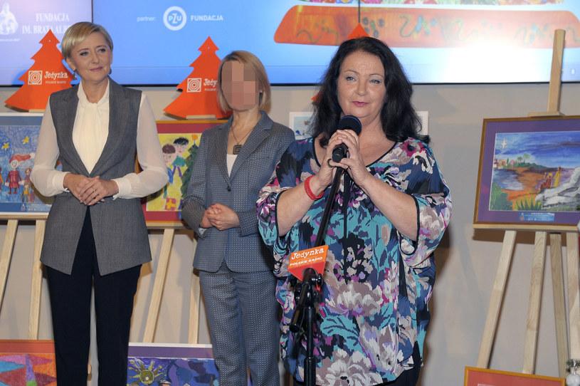 Agata Duda stara się wspierać akcje charytatywne, tu z Anną Dymną /Gałązka /AKPA