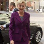 Agata Duda w fioletowej garsonce! Prawdziwa dama?