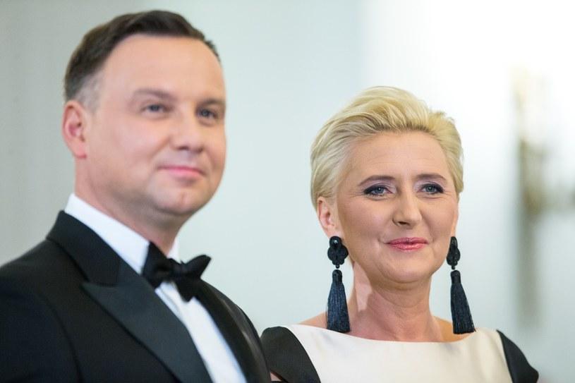 Agata Duda w nowej fryzurze /fot. Andrzej Iwanczuk /Reporter