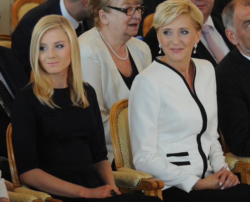 Agata Duda z córką Kingą /Alik Keplicz /East News