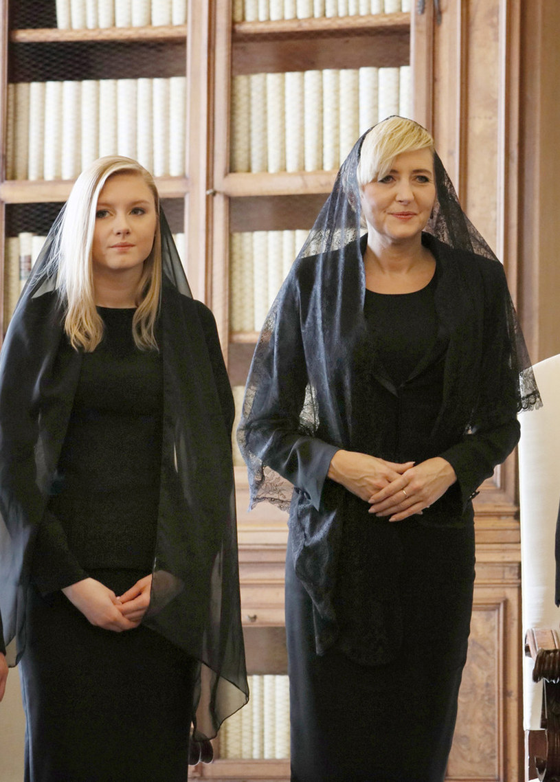 Agata Duda z córką u papieża /- /East News
