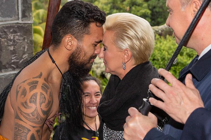 Agata Duda z Maorysem /DAVID ROWLAND  /East News