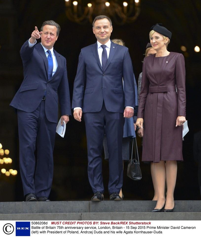 Agata Duda z mężem z wizytą w Lodnynie! Wygląda jak księżna Kate? /- /East News