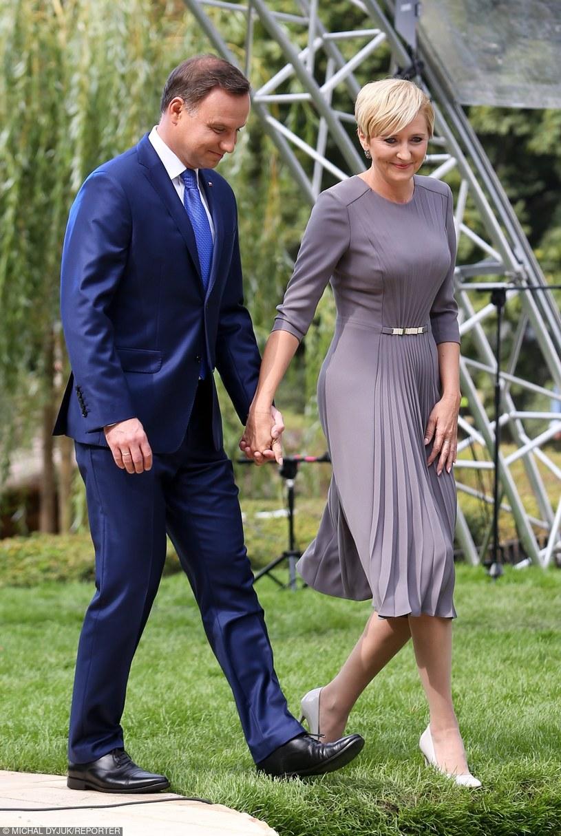 Agata Duda z mężem /- /East News