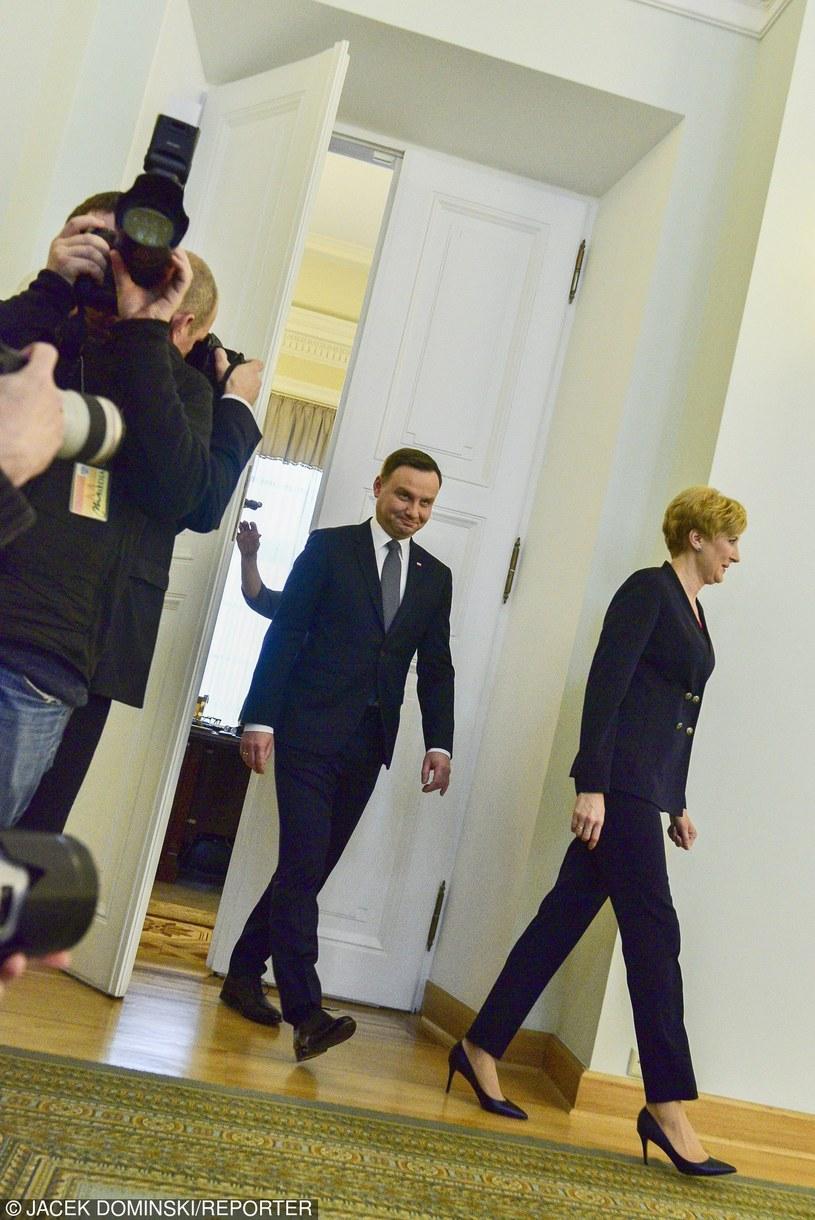 Agata Duda z mężem /East News