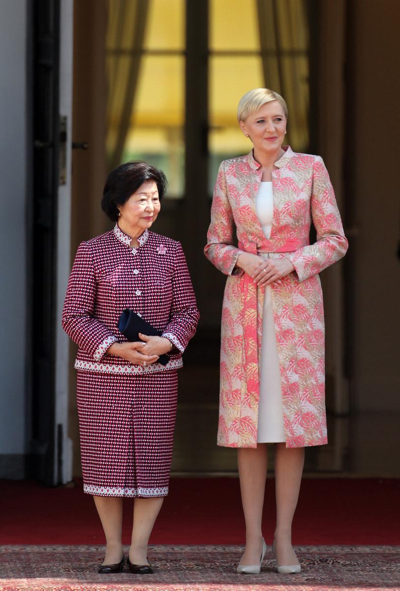 Agata Duda z prezydentową Singapuru /- /East News