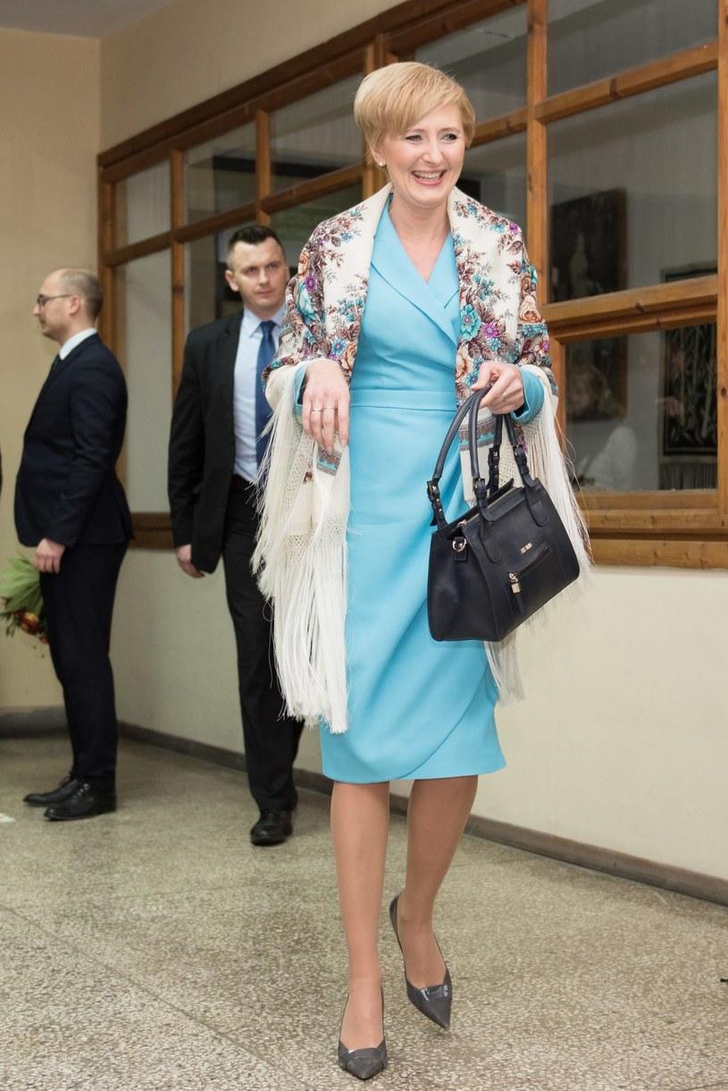 Agata Duda z torebką /- /East News