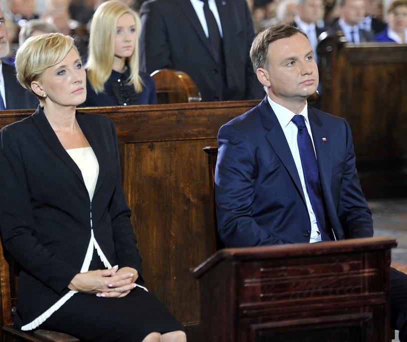 Agata i Andrzej Duda z córką Kingą /Niemiec /AKPA