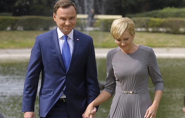 Agata i Andrzej Duda /- /AKPA