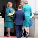 Agata i Andrzej Dudowie spotkali się z prezydencką parą