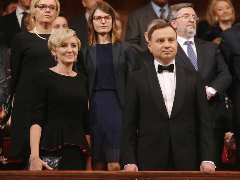 Agata i Andrzej Dudowie /Paweł Supernak /PAP