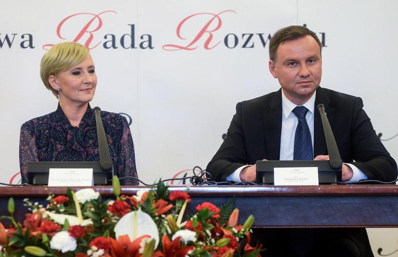 Agata i Andrzej Dudowie /Jakub Kamiński   /PAP