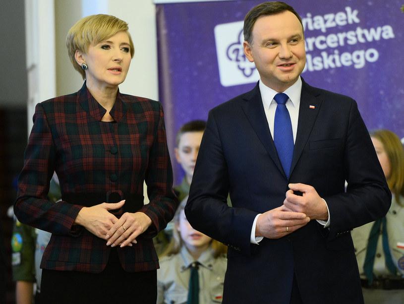 Agata i Andrzej Dudowie /- /MWMedia