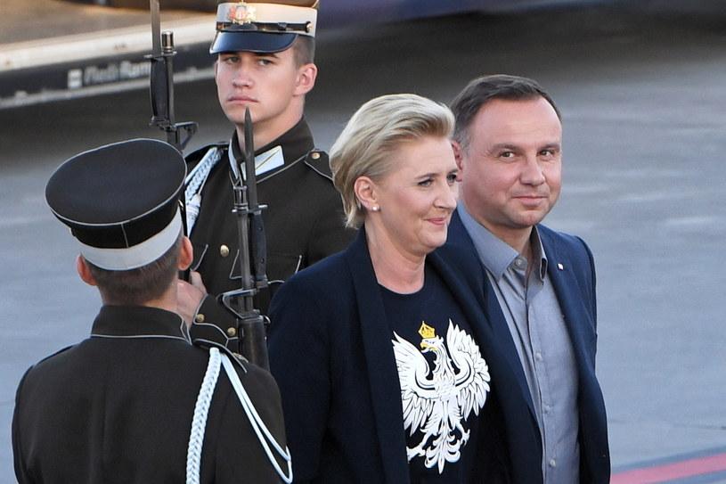 Agata i Andrzej Dudowie /Radek Pietruszka /PAP