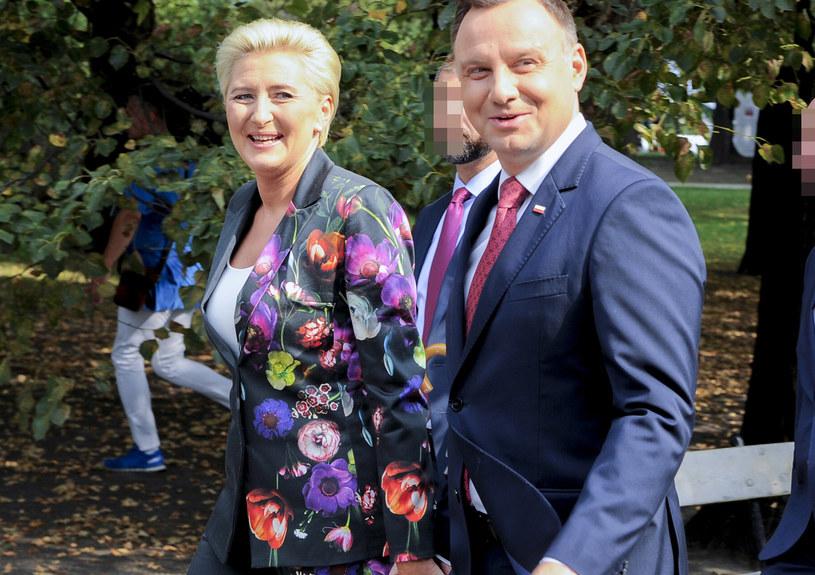 Agata i Andrzej Dudowie /Gałązka /AKPA