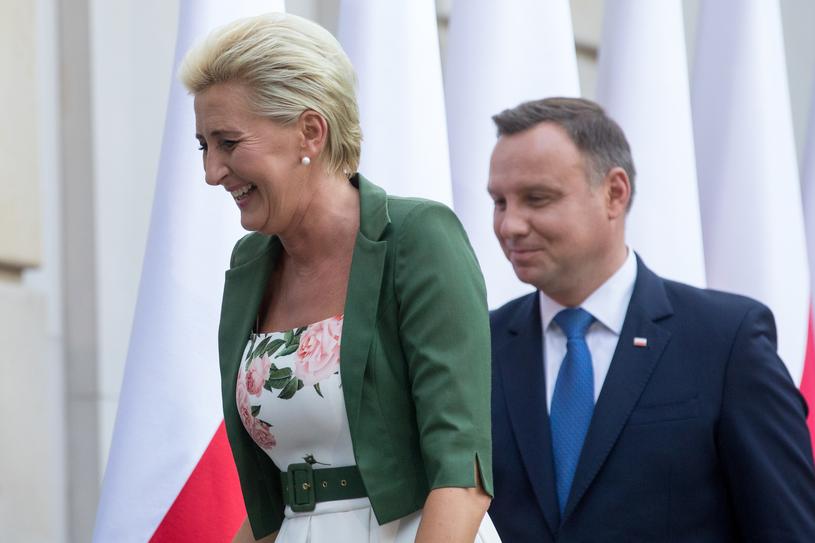 Agata i Andrzej Dudowie /Andrzej Iwańczuk /Reporter