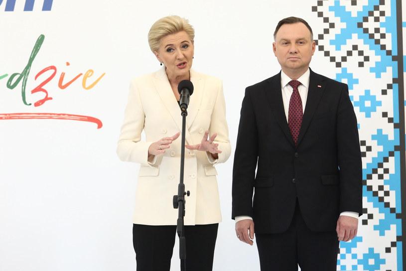 Agata i Andrzej Dudowie /Adam Jastrzębowski /Reporter