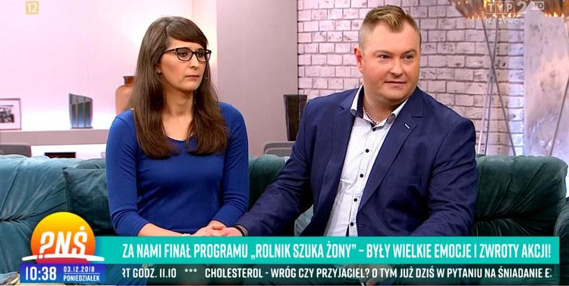 """Agata i Łukasz w """"Pytaniu na śniadanie"""" /TVP /materiał zewnętrzny"""
