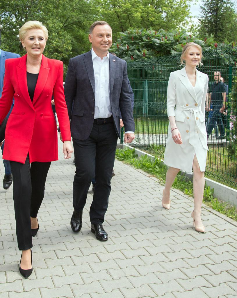 Agata Kornhauser-Duda, Andrzej Duda, Kinga Duda /Tomasz Jagodziński /Agencja FORUM