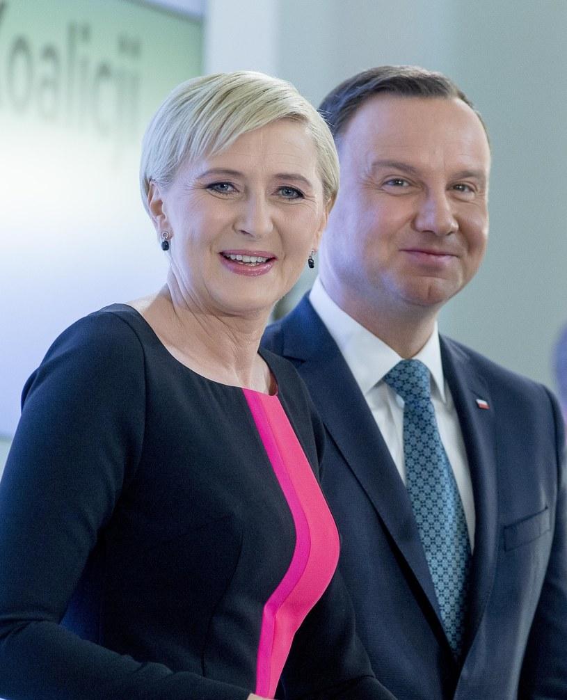 Agata Kornhauser-Duda, Andrzej Duda /Andrzej Iwańczuk /Reporter