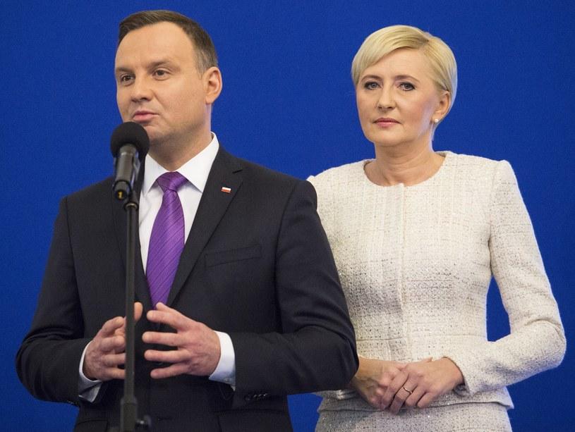 Agata Kornhauser-Duda, Andrzej Duda /Andrzej Hulimka  /Reporter