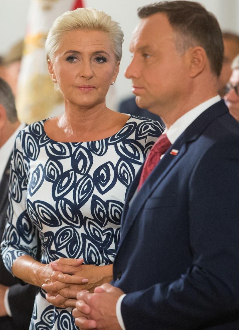 Agata Kornhauser-Duda, Andrzej Duda /Tomasz Jastrzębowski /Reporter