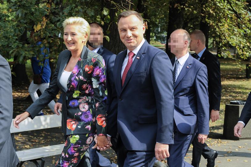 Agata Kornhauser-Duda i Andrzej Duda /Gałązka /AKPA