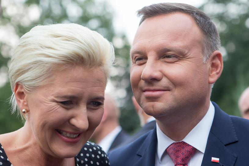 Agata Kornhauser-Duda i Andrzej Duda /Tomasz Jastrzębowski /Reporter