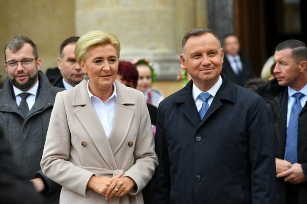 Agata Kornhauser-Duda i Andrzej Duda /Piotr Nowak /PAP