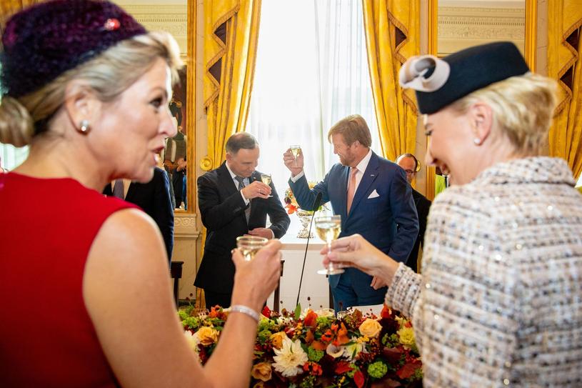 Agata Kornhauser-Duda i Maksyma Królowa Niderlandów znalazły nić porozumienia /BACKGRID /Agencja FORUM