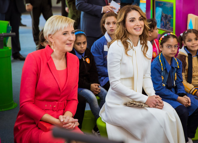 Agata Kornhauser-Duda na spotkaniu z królową Ranią /East News