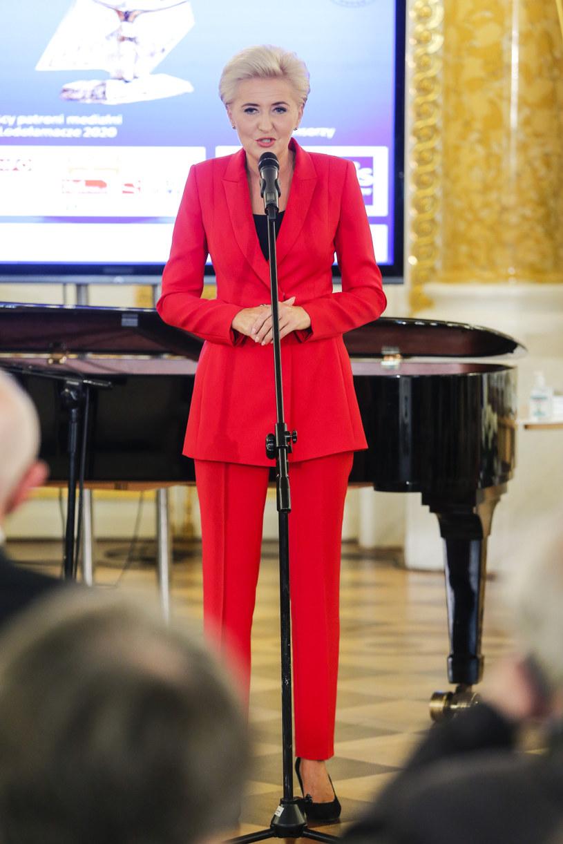 Agata Kornhauser-Duda podczas finałowej gali Lodołamacze 2020 /Podlewski /AKPA