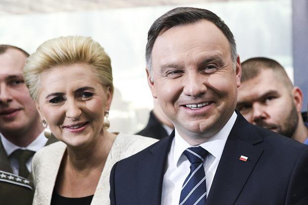 Agata Kornhauser-Duda, prezydent Andrzej Duda. Fot. Andrzej Hulimka /FORUM