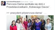 """Agata Kornhauser-Duda spotkała się z przedstawicielkami """"Kobiecego Davos"""""""