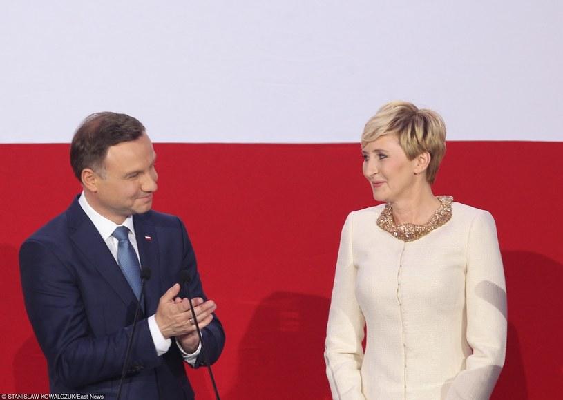 Agata Kornhauser-Duda w towarzystwie męża Andrzeja Dudy /STANISLAW KOWALCZUK /East News