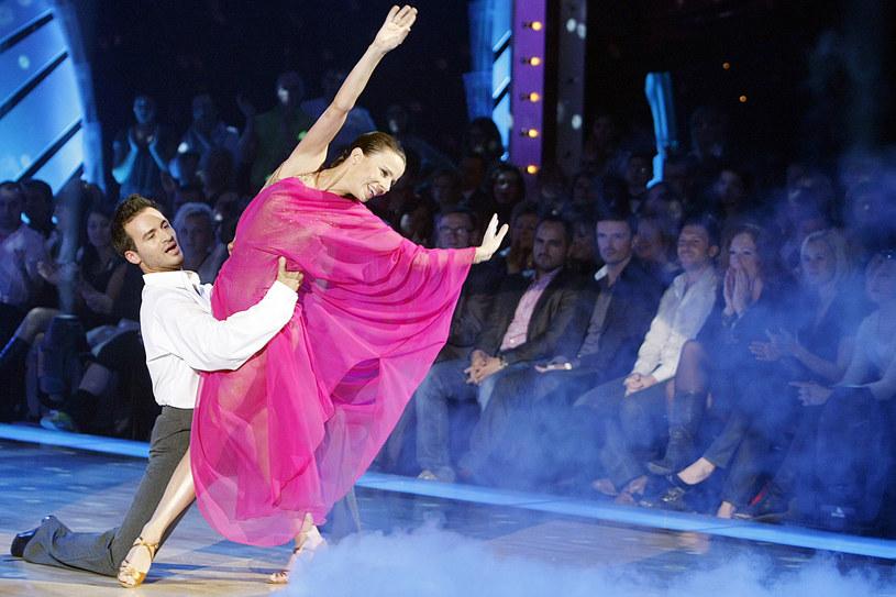 """Agata Kulesza i Stefano Terrazzino w programie """"Taniec z gwiazdami"""" (2008) /AKPA"""