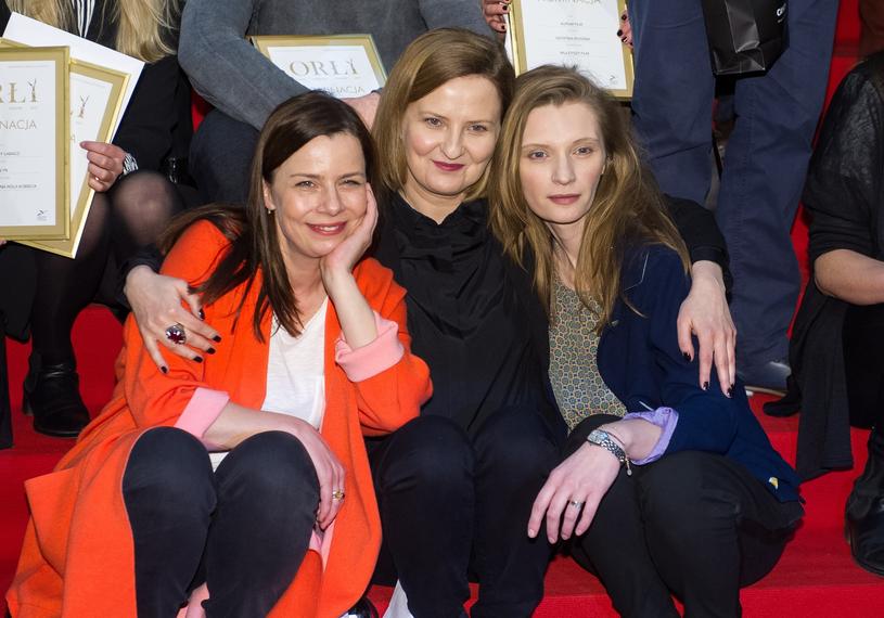 Agata Kulesza z Izą Kuną i Agatą Buzek /Bartosz Krupa /East News