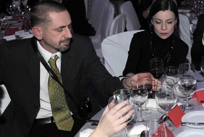Agata Kulesza z mężem /Tricolors /East News