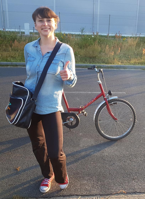 Agata Łońska wyjechała z mieszkania na czerwonym rowerze /Policja