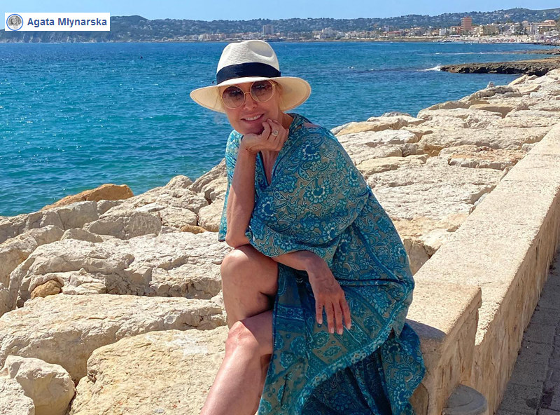 Agata Młynarska spędza wakacje w słonecznej Hiszpanii /Interia/ Facebook