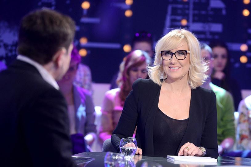 Agata Młynarska w studiu telewizyjnym /Mateusz Jagielski /East News