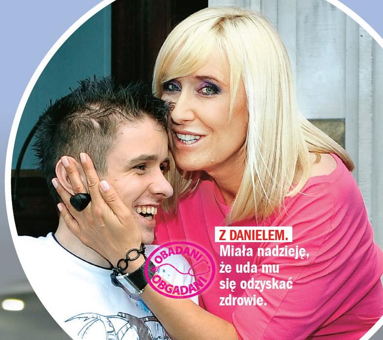 Agata Młynarska z Danielem /Rewia