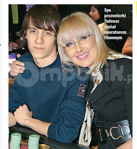 Agata Młynarska z synem Tadeuszem /Życie na gorąco