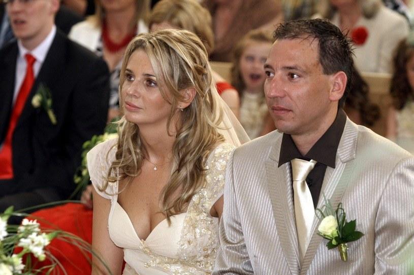 Agata Mróz i Jacek Olszewski pobrali się 9 czerwca 2007 roku /Robert Szwedowski /East News