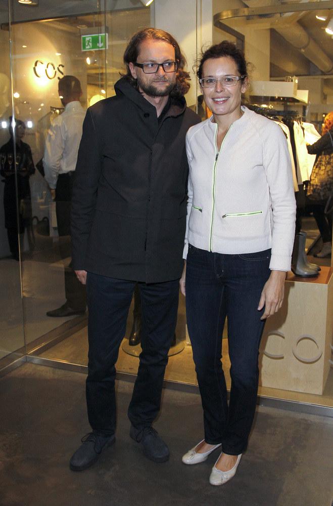 Agata Passent i Wojciech Kuczok na promocji sklepu /Engelbrecht /AKPA